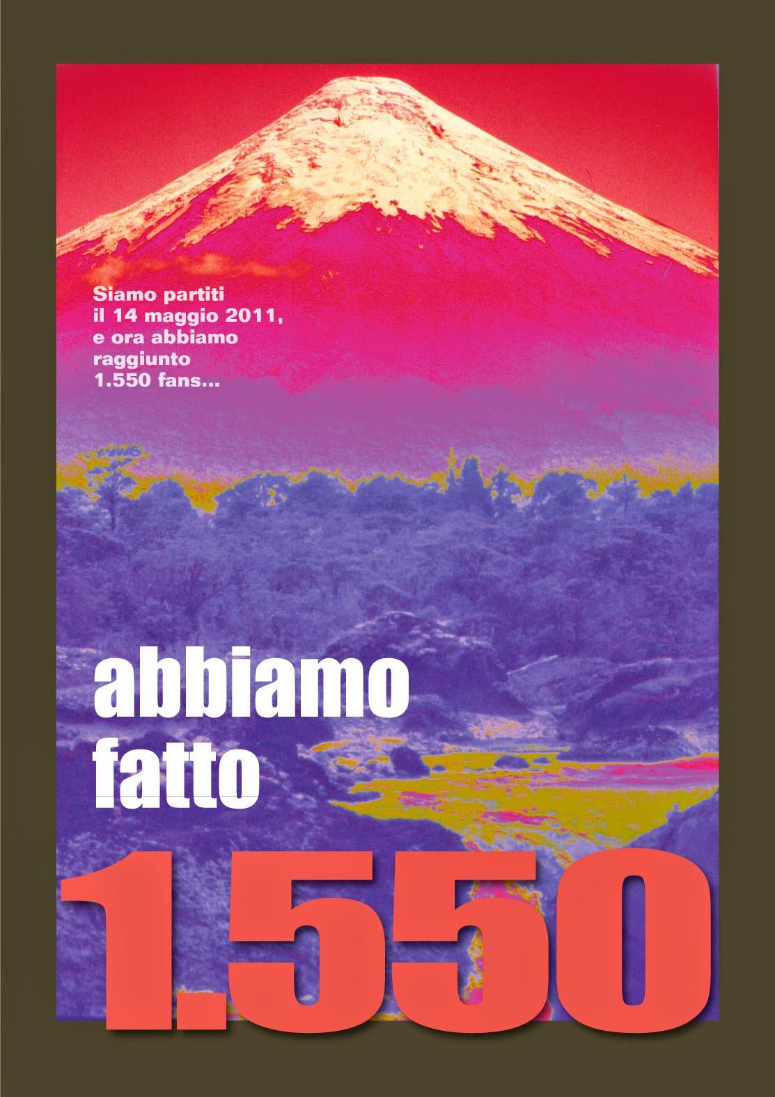 """1.550 fan, """"Sulle vie del mondo""""."""