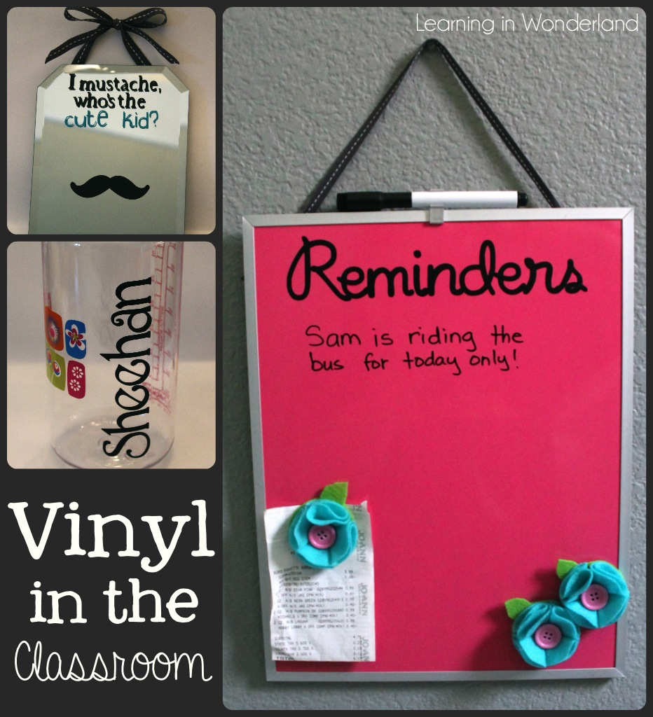 Classroom Ideas Using Cricut ~ Vinyl projects for the classroom learning in wonderland