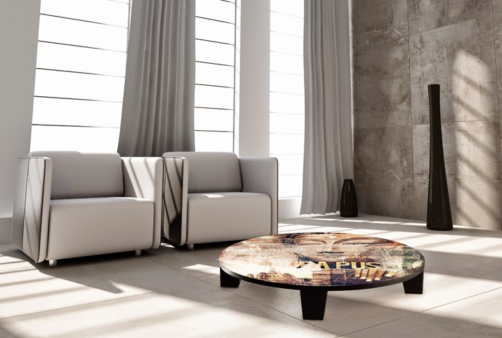 "The Artwork Factory – Art Coffee Table ""Iris Luciano Pavarotti"""