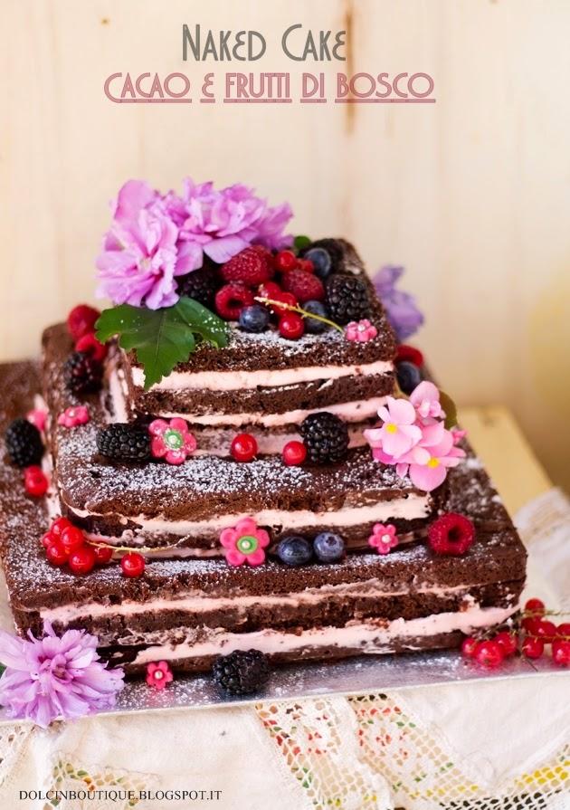 Torta nuda al cioccolato