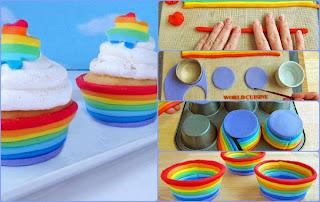 cupcake cup rainbow arcobaleno  festa a tema