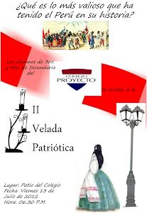 Invitación a la Velada Patriótica 2012