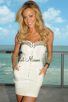 White Studded Strapless Dress
