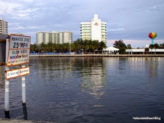 Looking east from Hallandale Beach across the Intracoastal Waterway