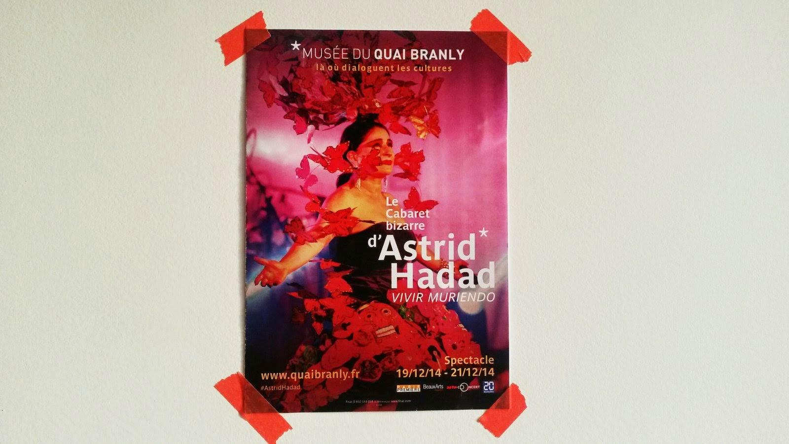 Astrid Hadad - cabaret bizarre - Quai Branly