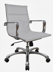 Baez Series Mesh Mid Back Chair by Woodstock