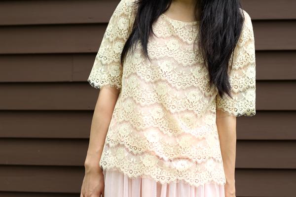 Eyelash Lace Top & Tulle Skirt