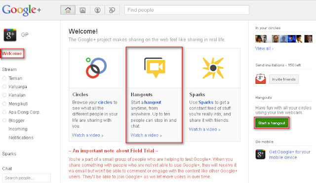 The Basic Guidelines How to Use Google+: Hangouts