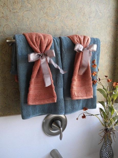 cómo colocar las toallas