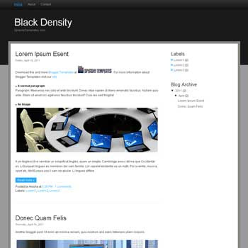 Black Density blogger template. blogger template from wordpress theme. css template to blogger. convert wordpress theme to blogger