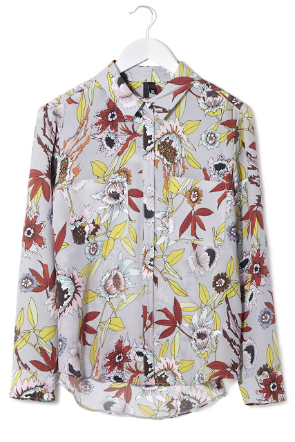 topshop floral shirt, floral print shirt,