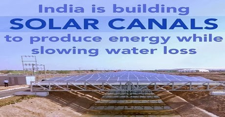 India is building solar canals to produce energy while slowing water loss