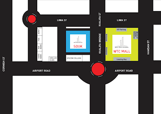 Location map for World Trade Center Mall