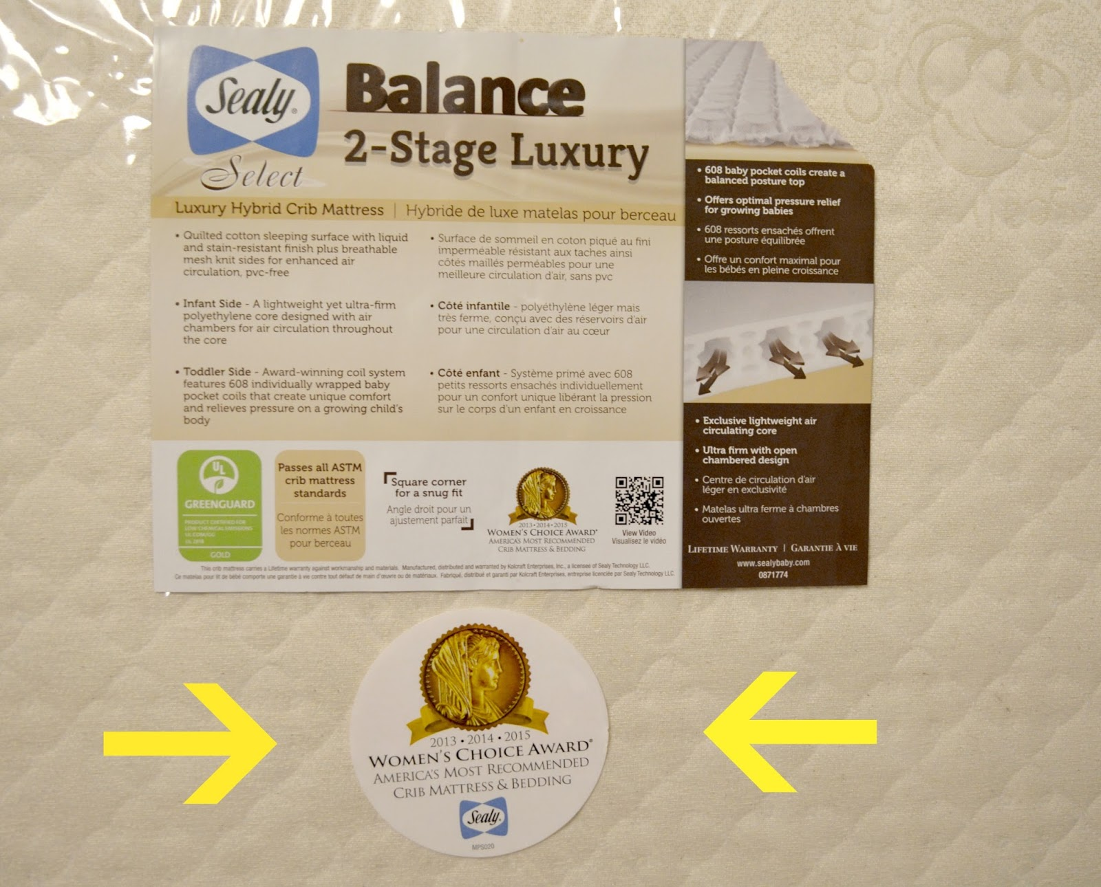 sealy crib mattress sealy soybean foamcore infant toddler crib sealy select balance 2stage luxury crib mattress combines coil and foam to create the - Sealy Crib Mattress