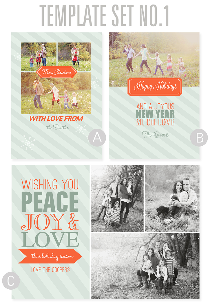 even more holiday card template designs available here