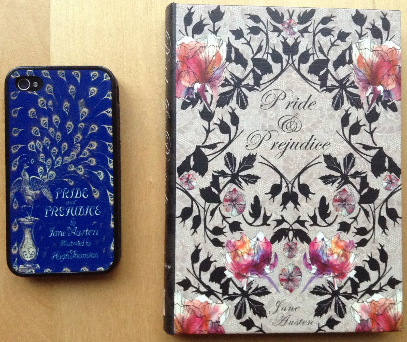 Pride & Prejudice phone cover and Pride & Prejudice Kindle cover