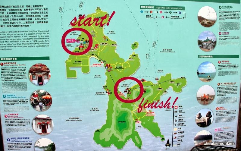 Lamma Island Walking Map