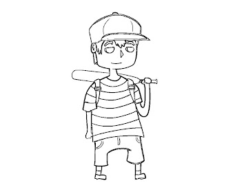#3 Ness Coloring Page