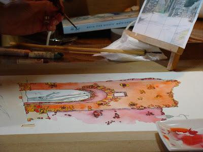 stage aquarelle blesle proche de brioude auvergne haute-loire