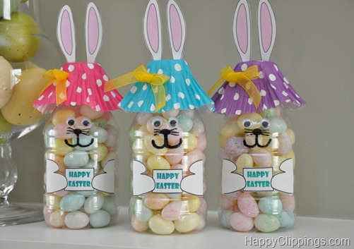 Easter Bunny Water Bottle Craft