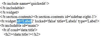 labels widget