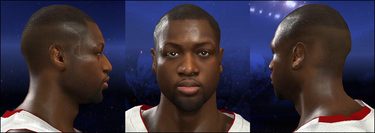 NBA2K Dwyane Wade Haircut Patch Mod