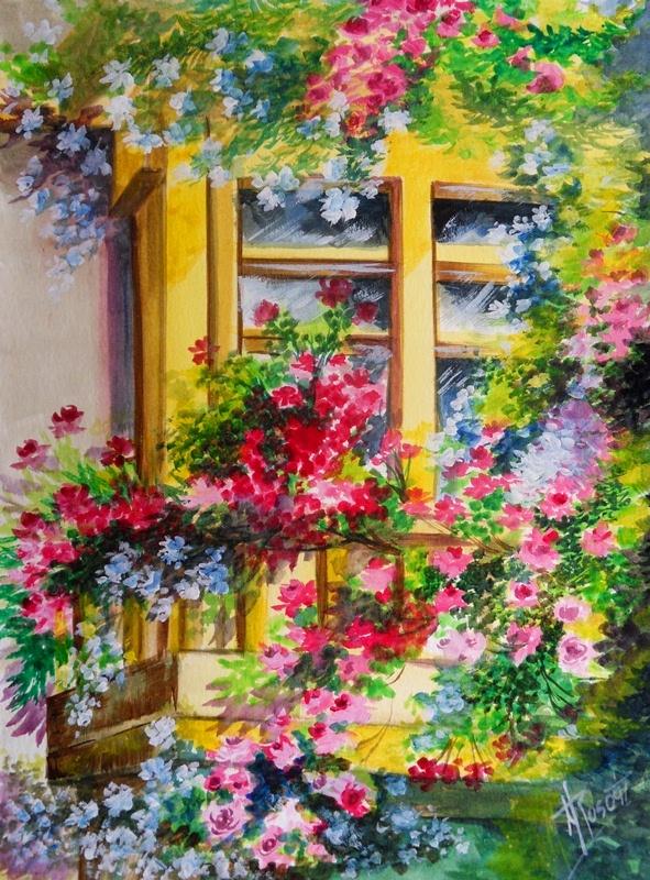 Im genes arte pinturas paisaje decorativo pintado en acuarela - Ka internacional papel pintado ...