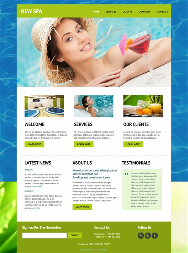 New SPA - Free Drupal Theme
