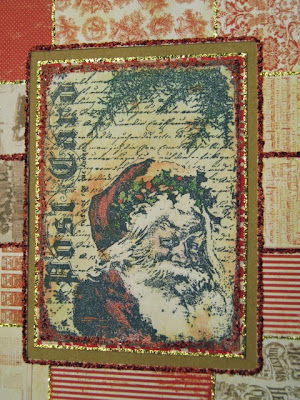 greeting card, santa