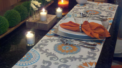 Rosa Dosett Orange Table Runner