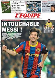 Messi el mejor deportista del 2011 para el L'Equipe