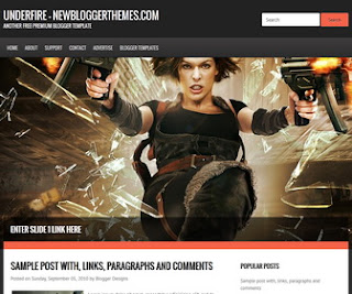 Underfire-Blogger-Template