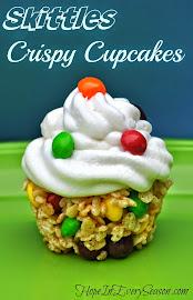 Skittles Crispy Cupcakes