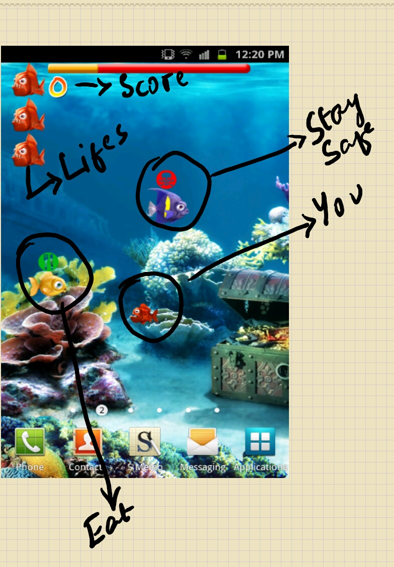 I 39 m android 39 ed crazy fish live wallpaper for Live fish games