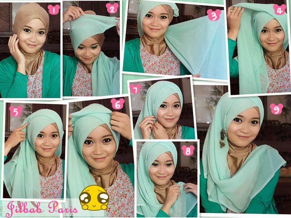 Contoh 5. Model dan Kreasi Hijab Paris Modern Terbaru 2015 image