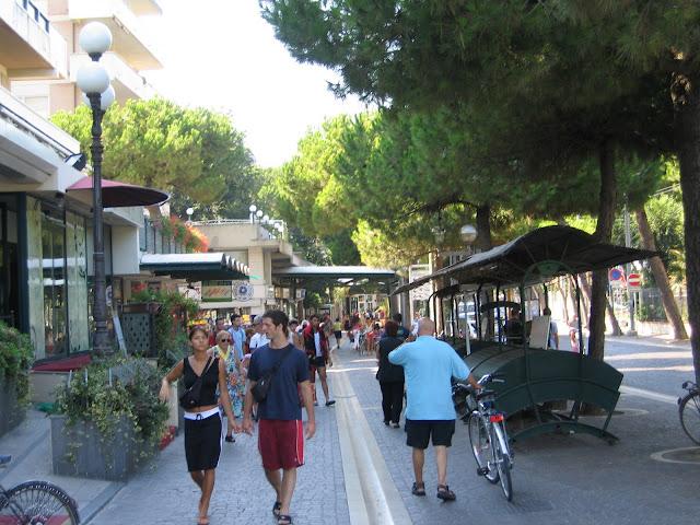 Rimini, Viale Vespucci üzerinde