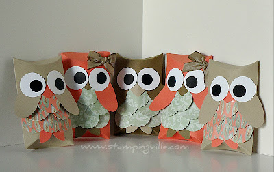 Paper Owls Using Decorative Punches