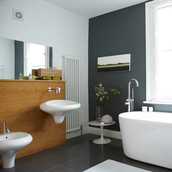 Baños Color Gris Fotos:Baño paredes grises