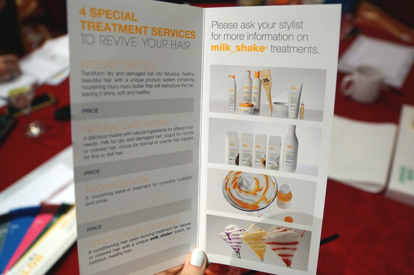 Hello Freckles milk_shake haircare treatment menu