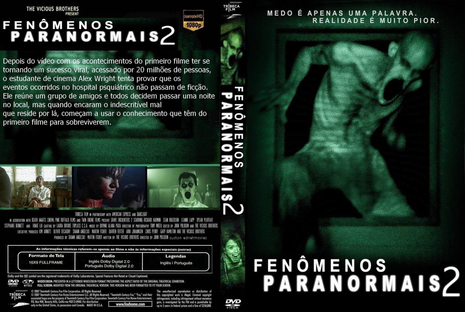Fenômenos Paranormais 2 BDRip Dual Áudio capa dvd www