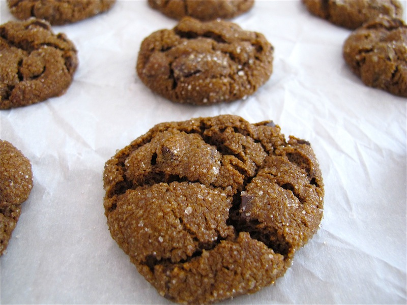 joeycake: chewy chocolate gingerbread cookies
