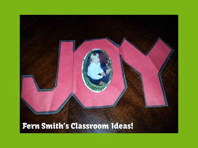 Fern Smith's Directions and Freebie for a Christmas Joy Picture Ornament!