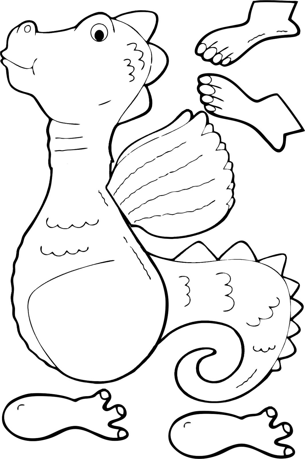 immagini di draghi da colorare per bambini