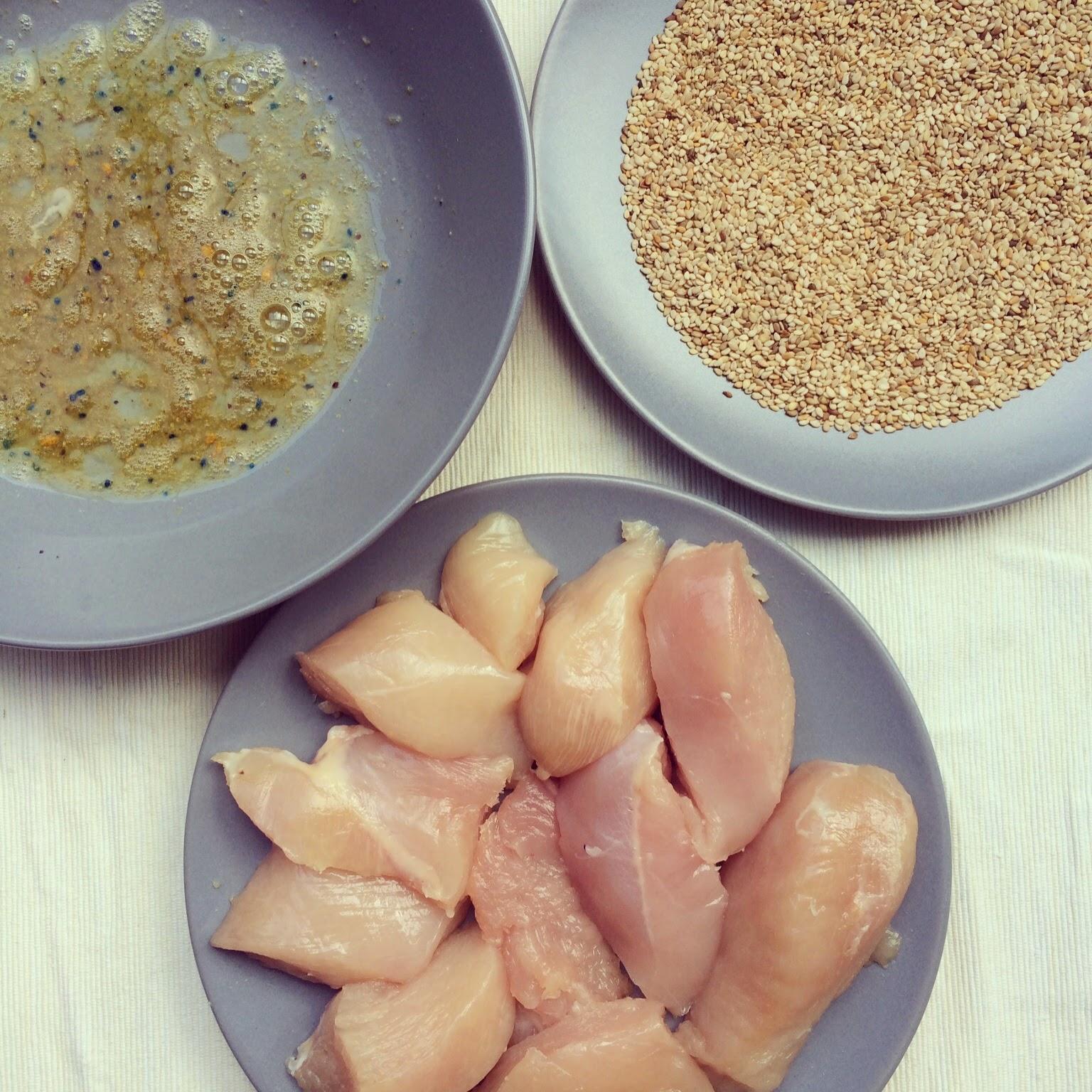 poulet pané au sésame