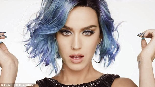 Katy Perry flaunts pink and blue hair for the new CoverGirl advert