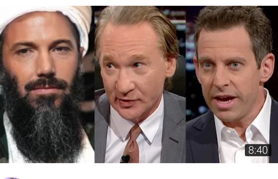 The time Bill Maher and San Harris argued with Islamo fascist Ben Ali ^ Affelecksum