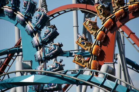Parque do Harry Potter Orlando - Dragon Challenge