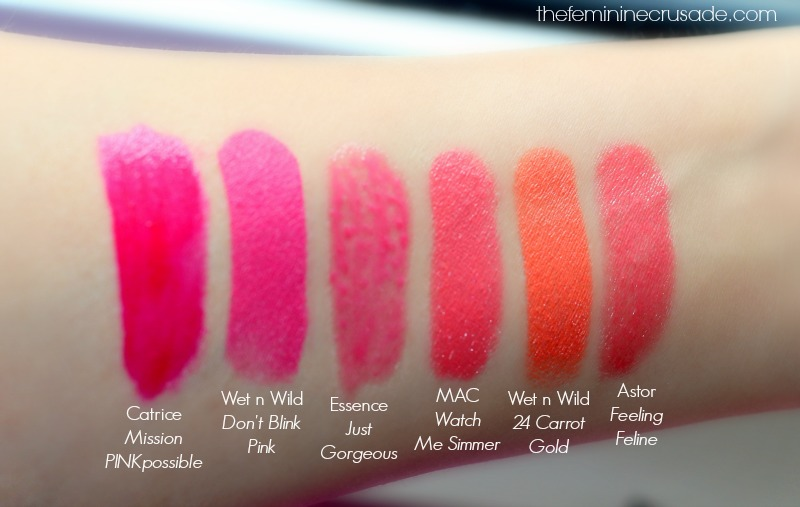 Summer Favourites: Lipsticks (swatches)