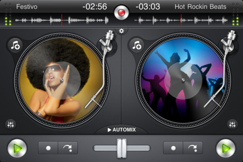 music dj app for iphone djay gets updated