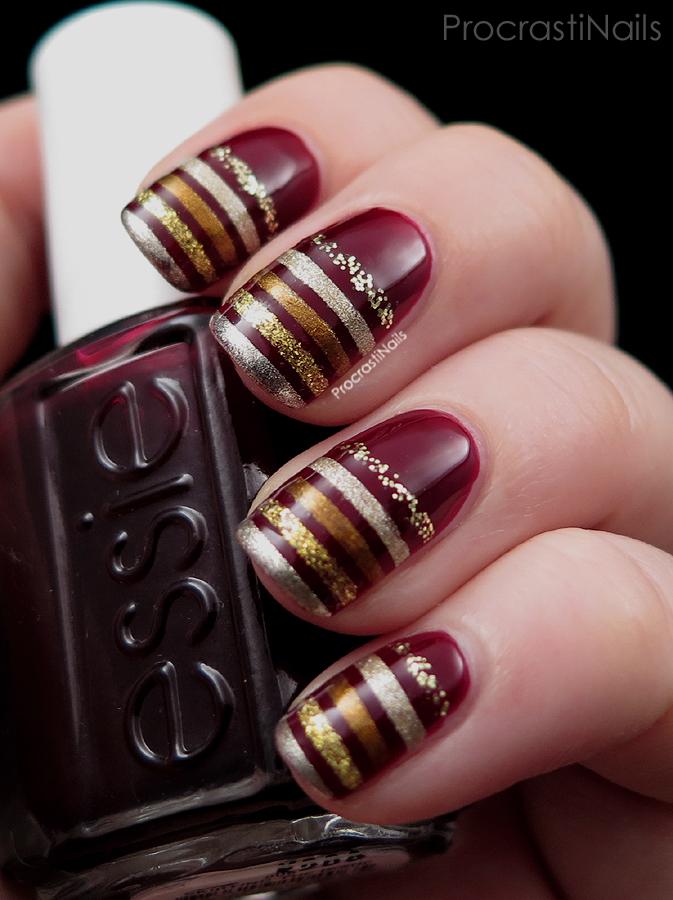 12 Days Of Christmas Nail Art Five Golden Rings Procrastinails